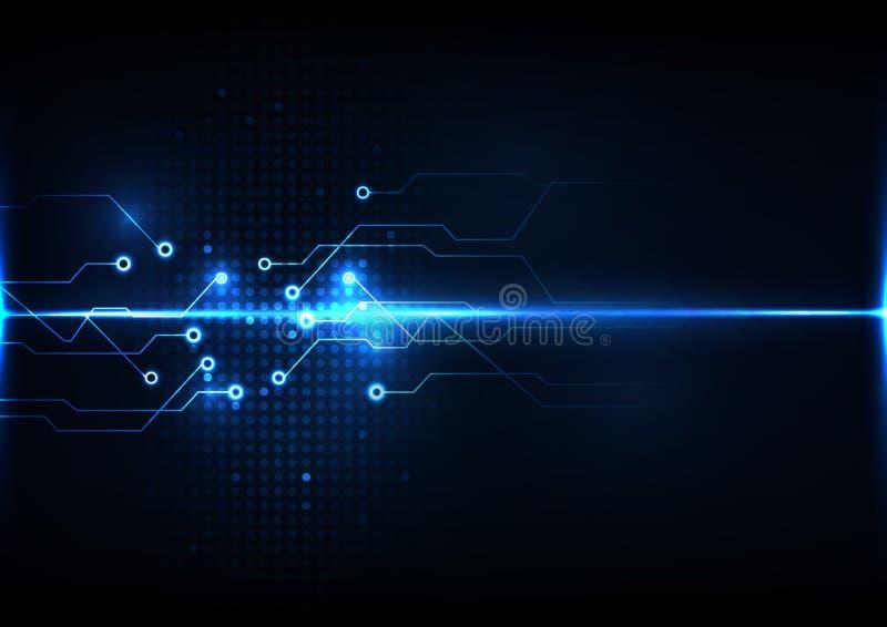 Abstrakt för strömkretssystem för digital teknologi vektor för mall för bakgrund för begrepp för signal för anslutning royaltyfri illustrationer