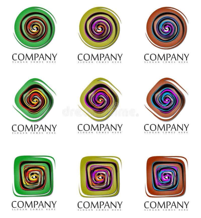 Abstrakt företagstecken royaltyfri illustrationer