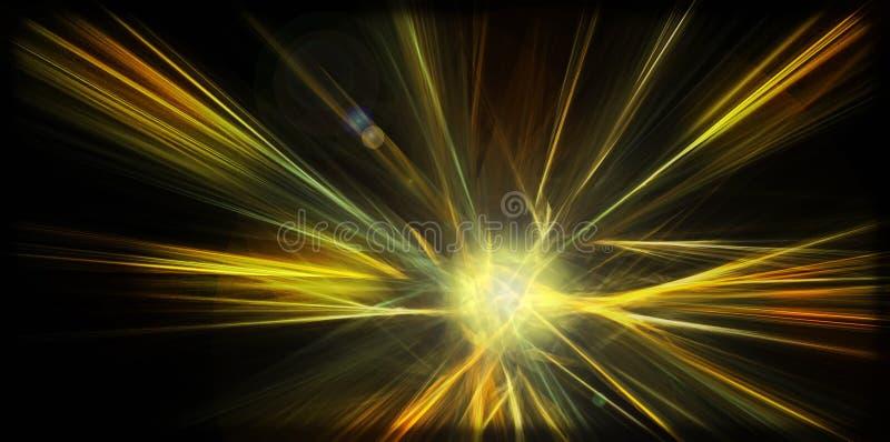 Abstrakt förtrollande planetexplosion vektor illustrationer