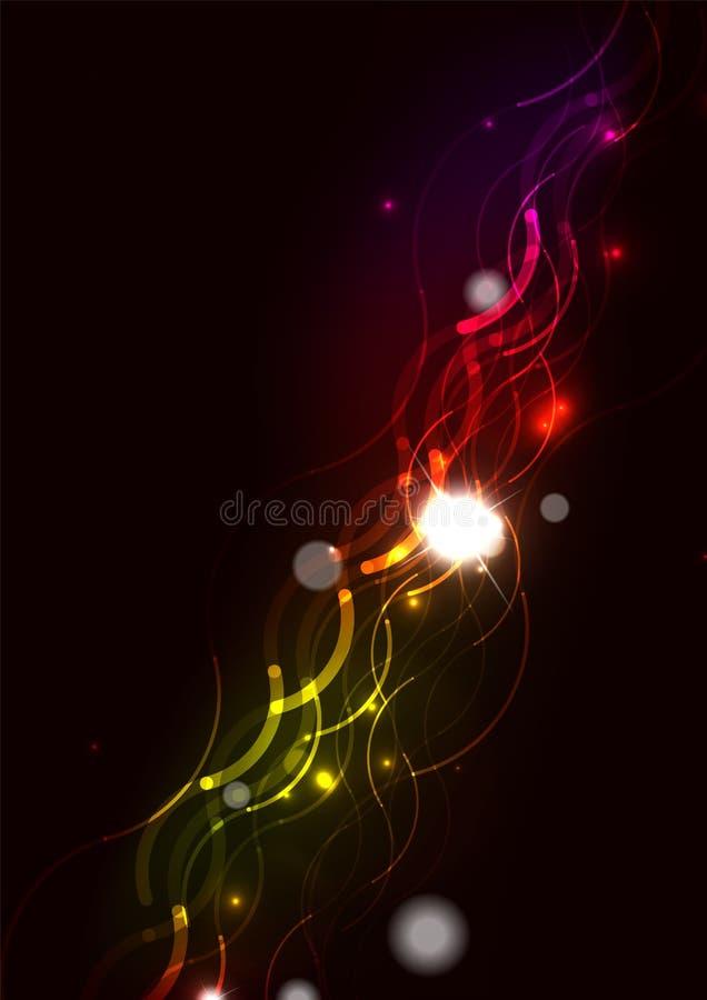 Download Abstrakt Fala Kolor Jarzy Się Linie W Ciemnej Przestrzeni Ilustracja Wektor - Ilustracja złożonej z tło, geometryczny: 57672909