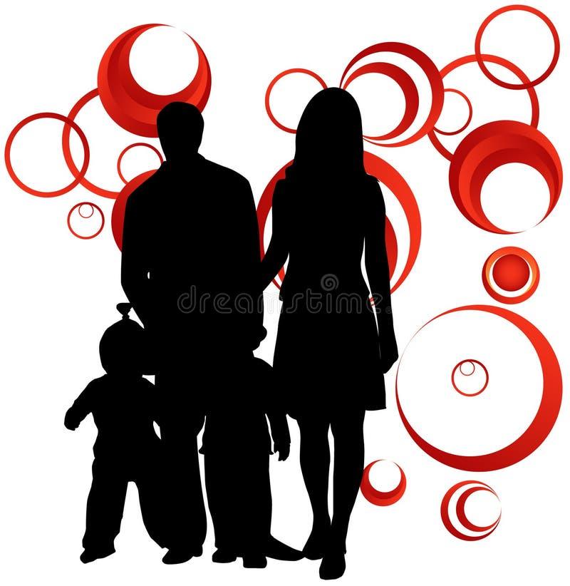 abstrakt familj stock illustrationer