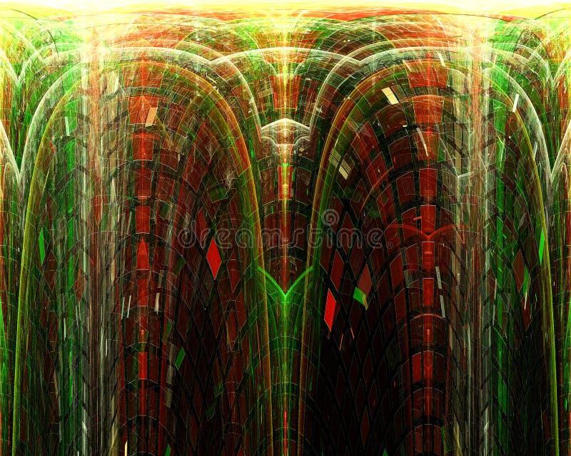 Abstrakt, fantazja, graficznego ruchu pojęcia projekta stylu energetyczny tło cyfrowy, fractal, władzy nauka ilustracji