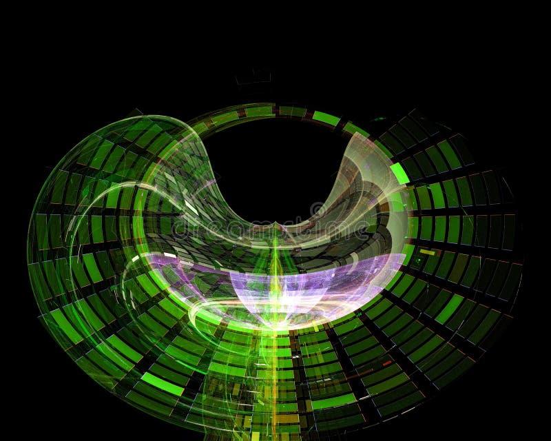 Abstrakt, fantazja, graficznego teksta pojęcia projekta ponowny wymarzony energetyczny tło cyfrowy, fractal, władzy nauka royalty ilustracja