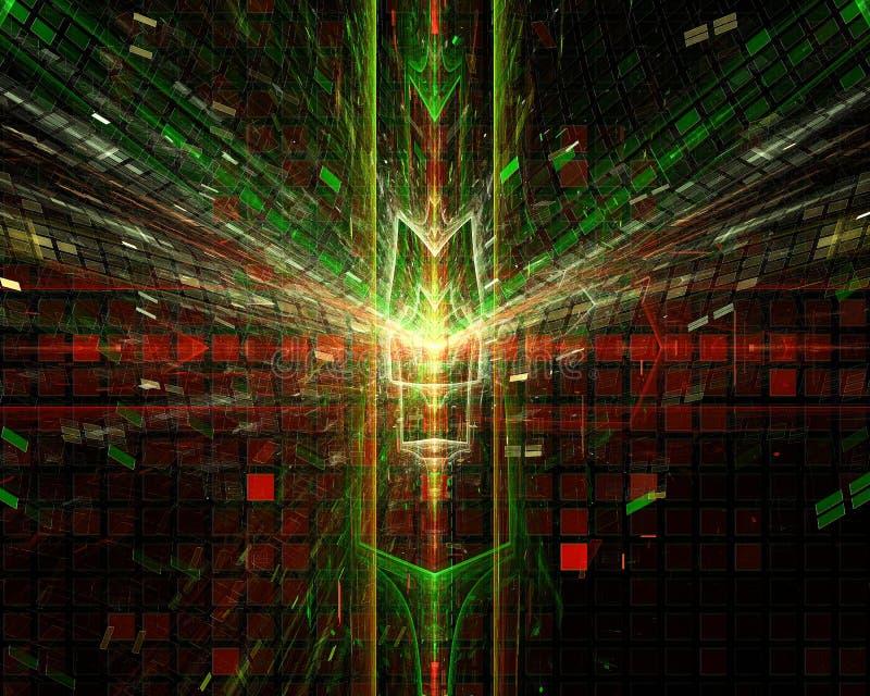 Abstrakt, fantazja, graficzny ruchu pojęcia projekta energetyczny tło cyfrowy, fractal, władzy nauka royalty ilustracja