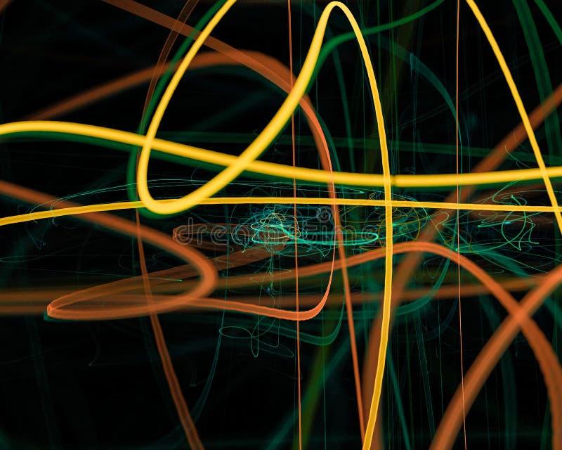 Abstrakt, fantazja, koszowego graficznego pojęcie projekta stylu energetyczny tło cyfrowy, fractal, władzy nauka ilustracja wektor