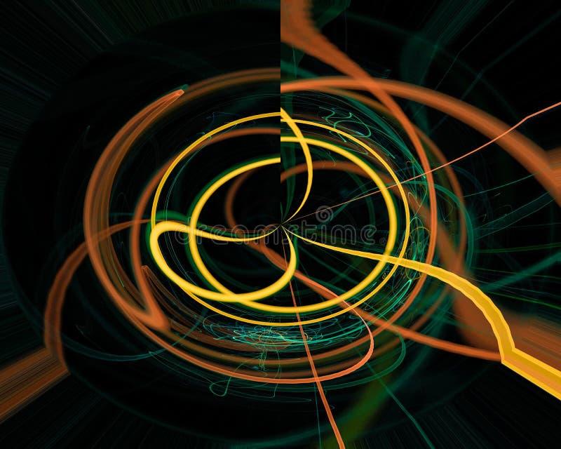 Abstrakt, fantazja, koszowego graphicdesign stylu energetyczny tło cyfrowy, fractal, władzy nauka ilustracji