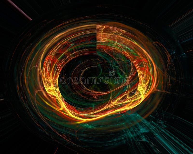 Abstrakt, fantazja, koszowego projekta stylu energetyczny tło cyfrowy, fractal, władzy nauka ilustracja wektor