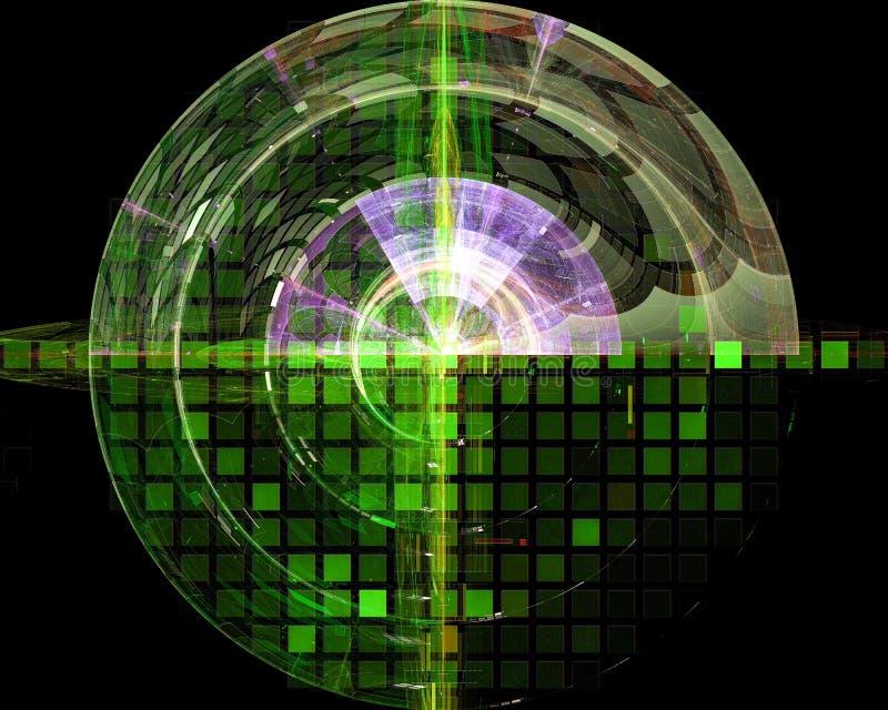 Abstrakt, fantazja kreatywnie, lekki graficzny kształta sen pojęcia projekta energetyczny tło cyfrowy, fractal, władzy nauka ilustracji