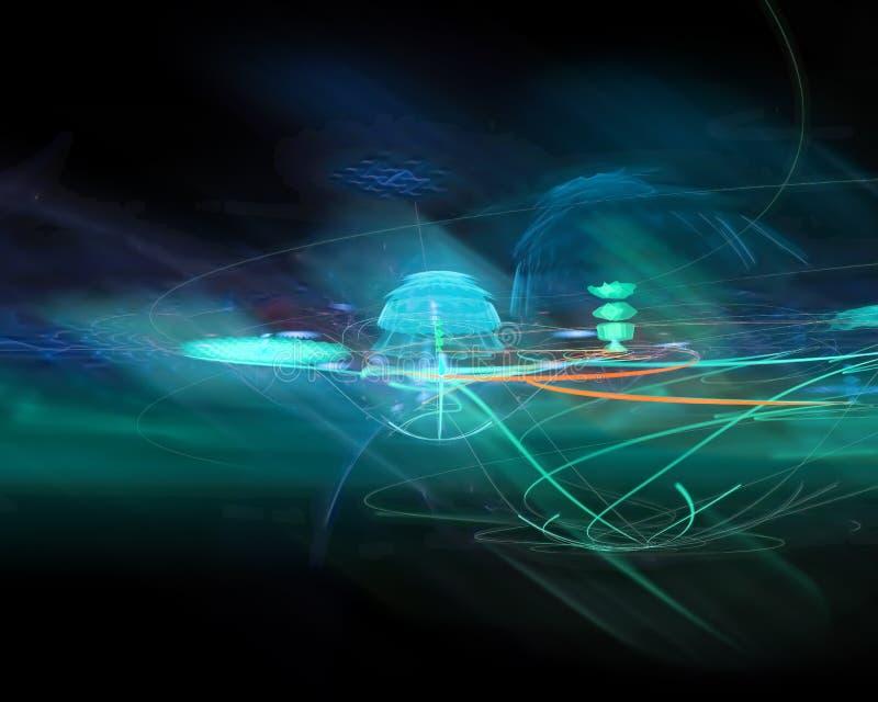 Abstrakt, fantazja, projekta stylowy energetyczny tło cyfrowy, fractal, władzy nauka ilustracja wektor