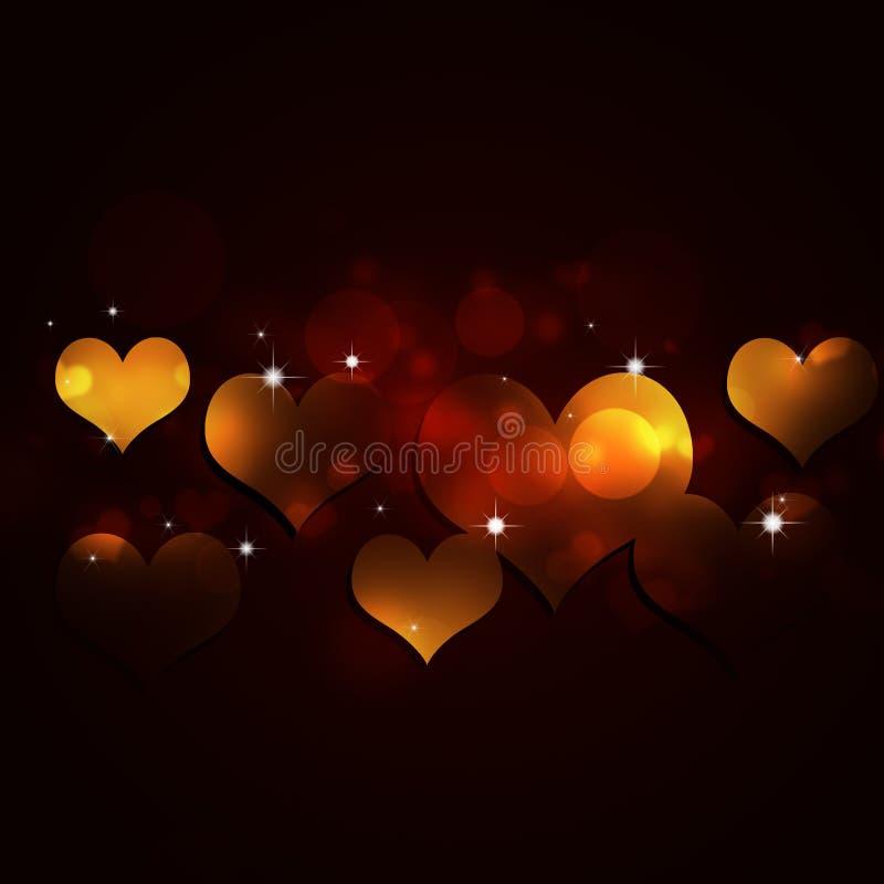 Abstrakt ferie Valentine Card royaltyfri illustrationer