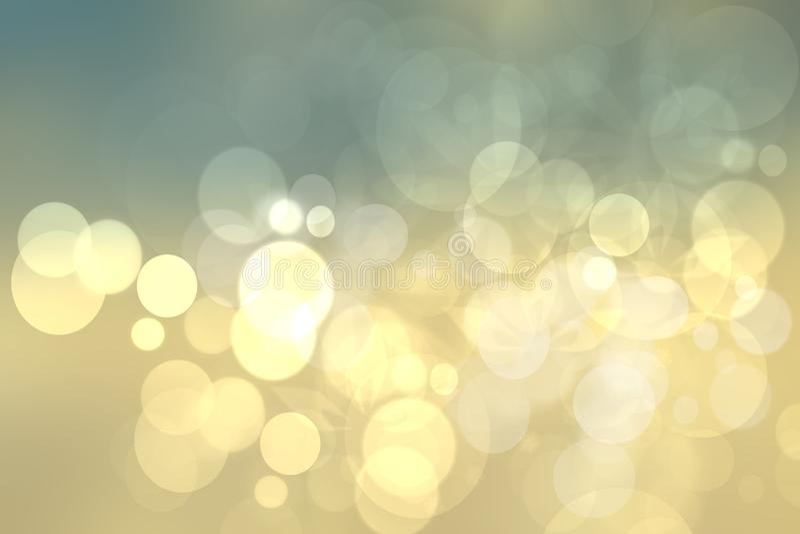 Abstrakt festlig guld- gul ljus bokehbakgrundstextur vektor illustrationer