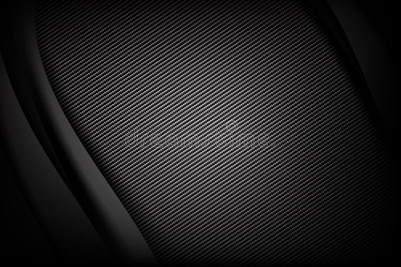 Abstrakt fiber för bakgrundsmörker- och svartkol med kurvan vektor illustrationer