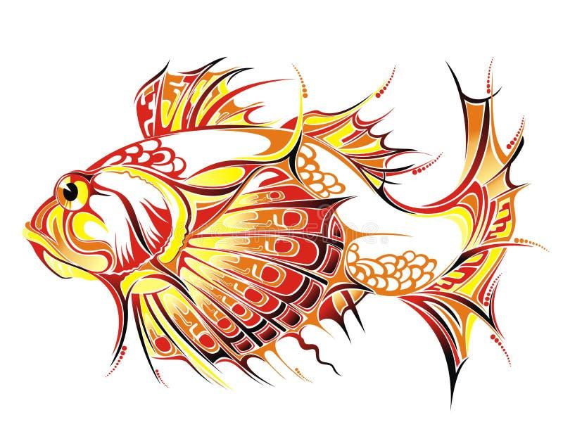 abstrakt fisk stock illustrationer