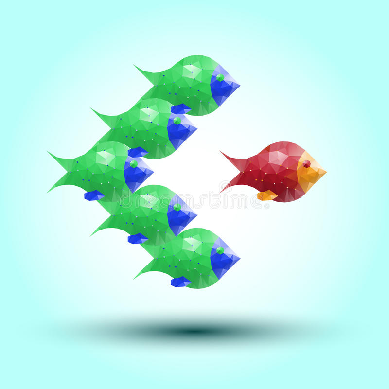 abstrakt fisk vektor illustrationer
