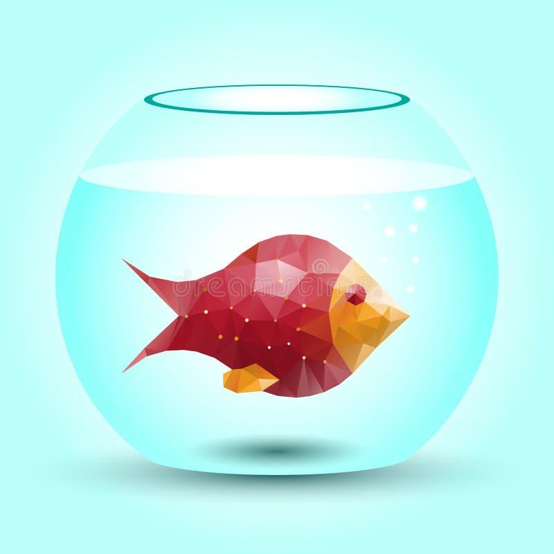 abstrakt fisk royaltyfri illustrationer