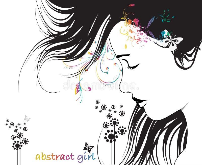 abstrakt fjäderkvinna vektor illustrationer