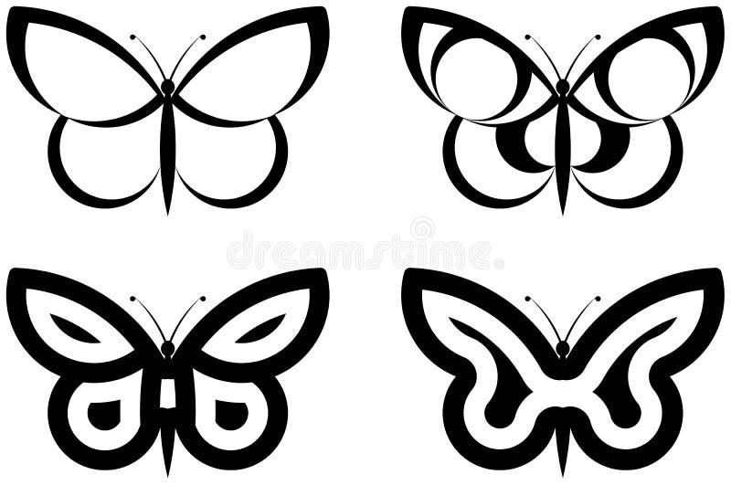 abstrakt fjärilar vektor illustrationer