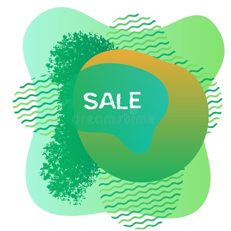 Abstrakt fläckdesign för effektiv marknadsföring vektor illustrationer