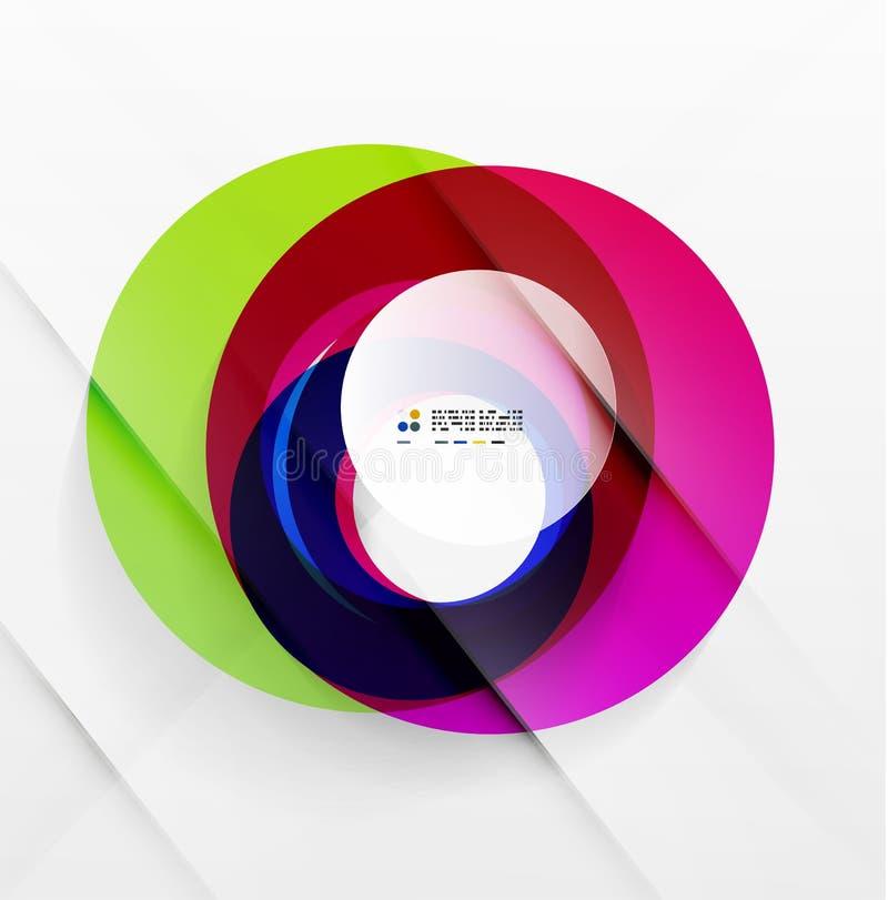 Abstrakt flödande modern färgrik design för former royaltyfri illustrationer