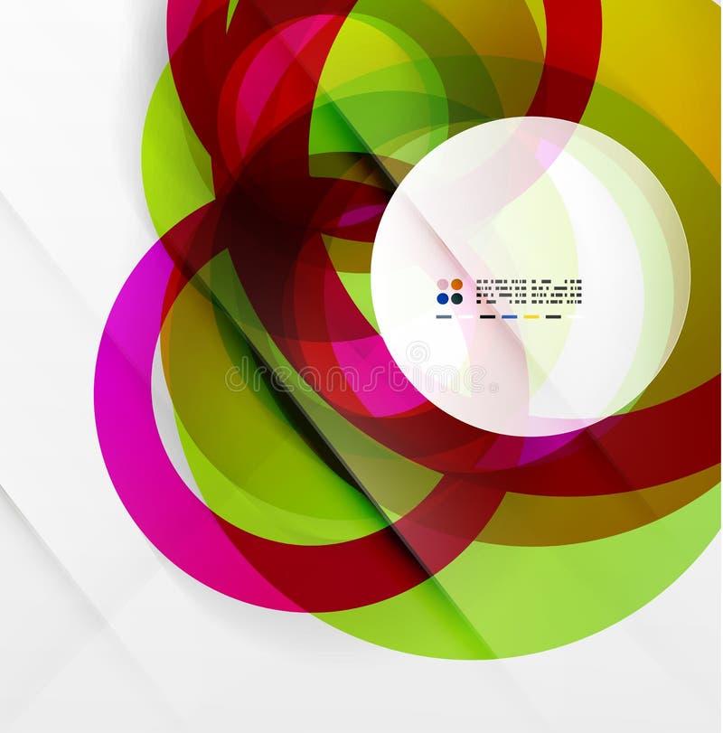Abstrakt flödande modern färgrik design för former stock illustrationer