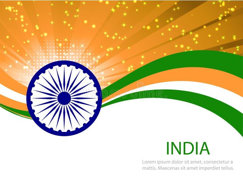 Abstrakt flagga av Indien royaltyfri illustrationer