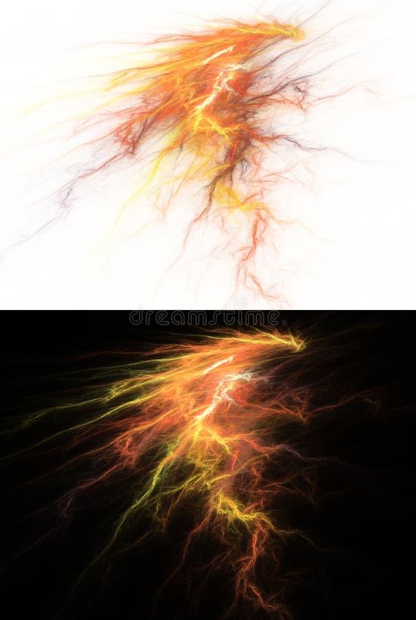 abstrakt flamma vektor illustrationer