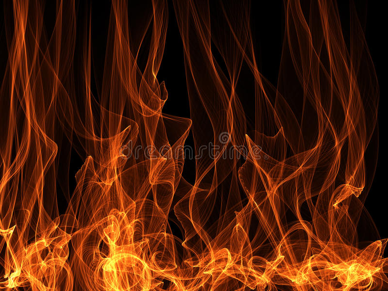 abstrakt flamma stock illustrationer