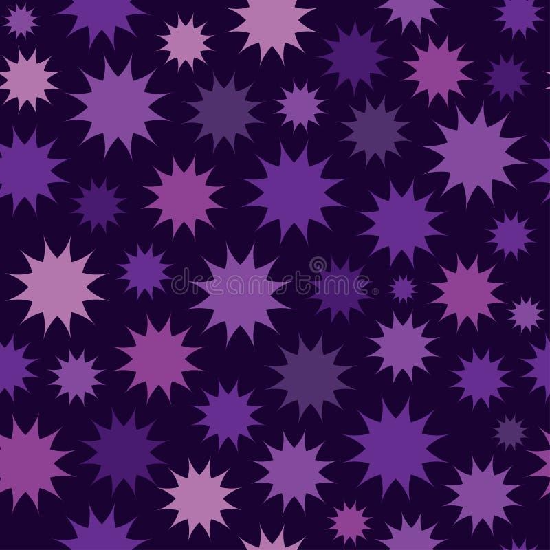 Abstrakt flerfärgad stjärnafyrverkeribakgrund cirklar mönsan seamless stock illustrationer
