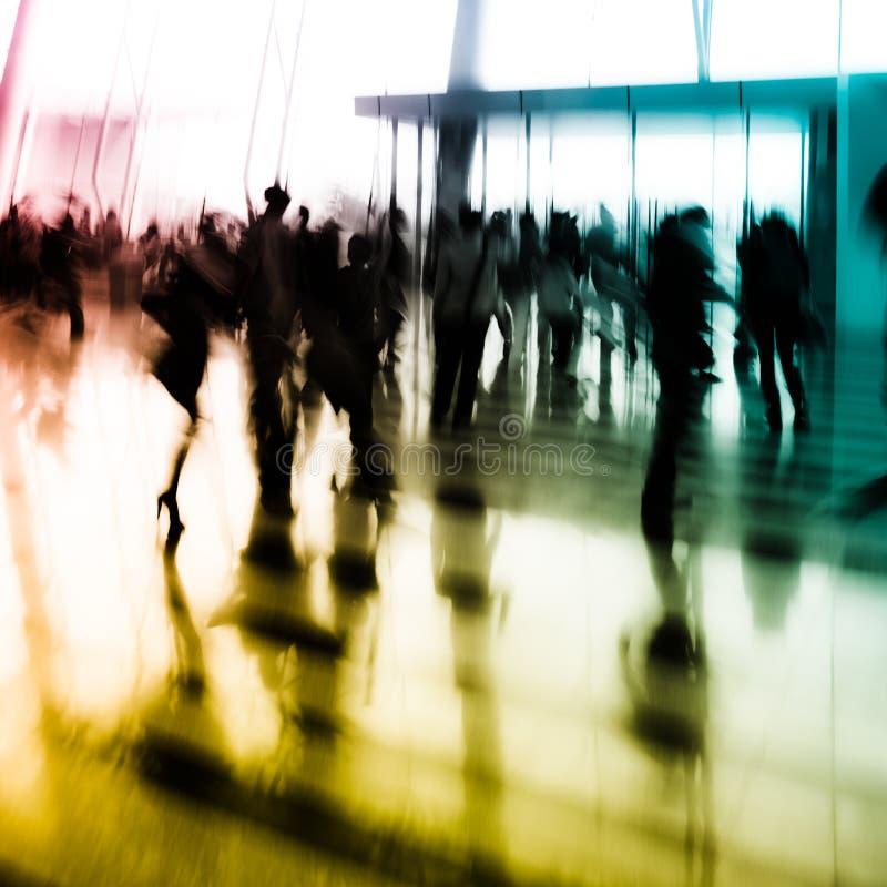 abstrakt folk för bakgrundsaffärsstad arkivbild