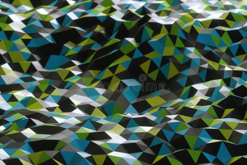 Abstrakt form från trianglar royaltyfri bild