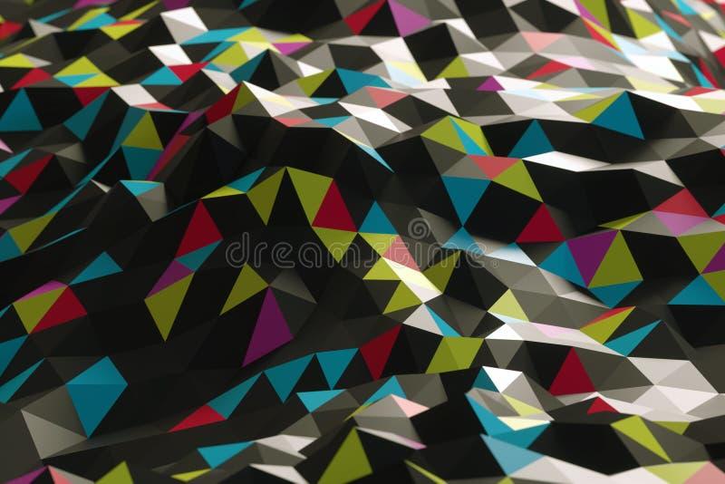 Abstrakt form från trianglar arkivfoton
