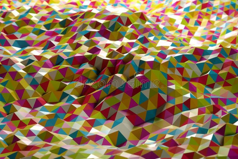 Abstrakt form från trianglar arkivfoto
