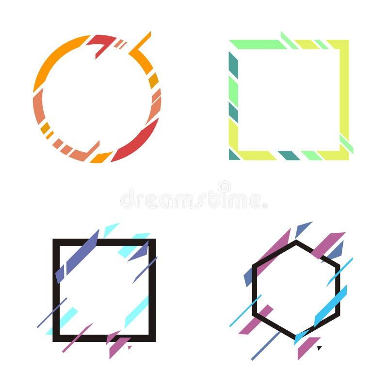 Abstrakt formbanervektor royaltyfri illustrationer