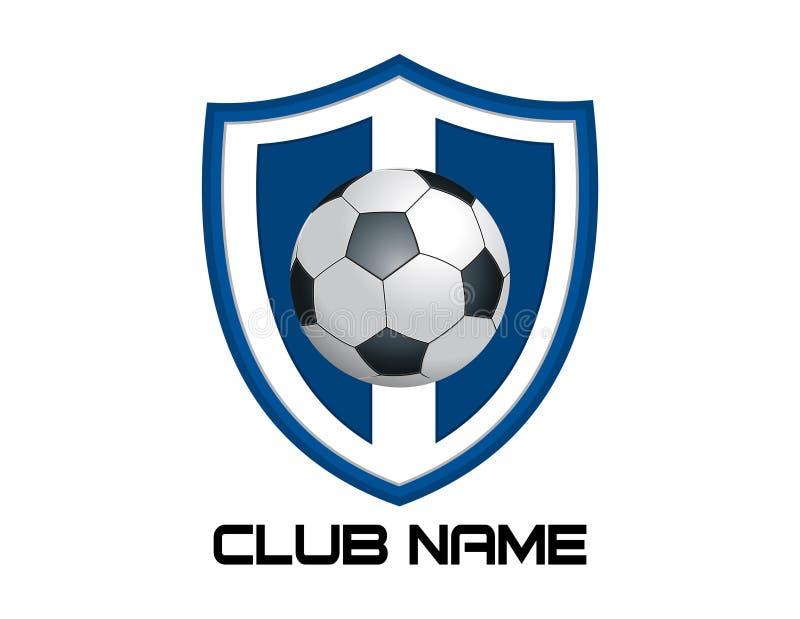 Abstrakt fotbolllogo på en vit bakgrund royaltyfri illustrationer