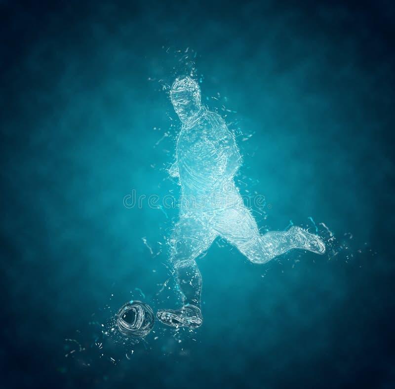 abstrakt fotbollsspelare royaltyfri illustrationer