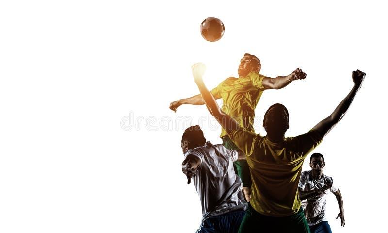Abstrakt fotbolltema - varmmast match?gonblick royaltyfria bilder
