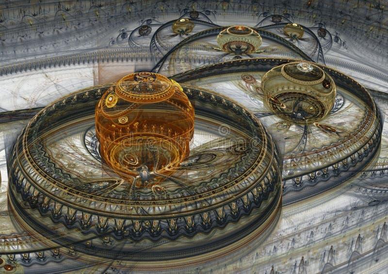 Abstrakt främmande landskap royaltyfri illustrationer