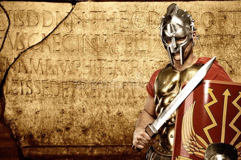 abstrakt främre legionarysoldatvägg royaltyfri foto