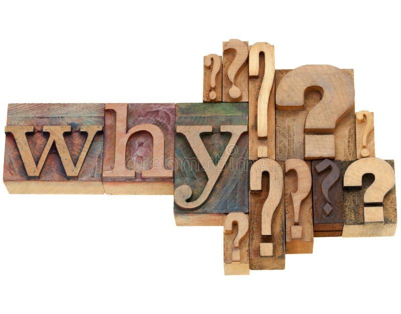 abstrakt fråga varför arkivbild