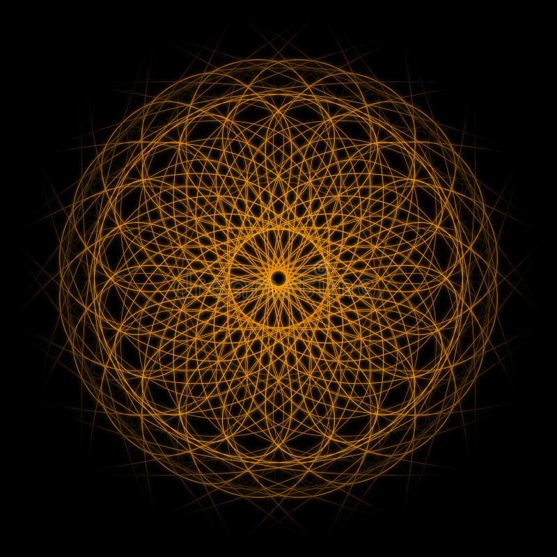 abstrakt fractal stock illustrationer