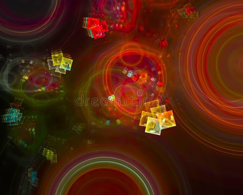 Abstrakt fractal, explosion för design för fantasi för fantasi för energi för färgstänkeffektexplosion som är fantastisk stock illustrationer