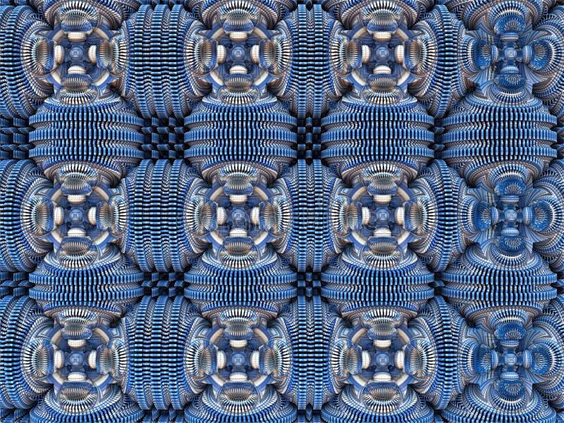 Abstrakt fractalbakgrund, illustration 3D vektor illustrationer
