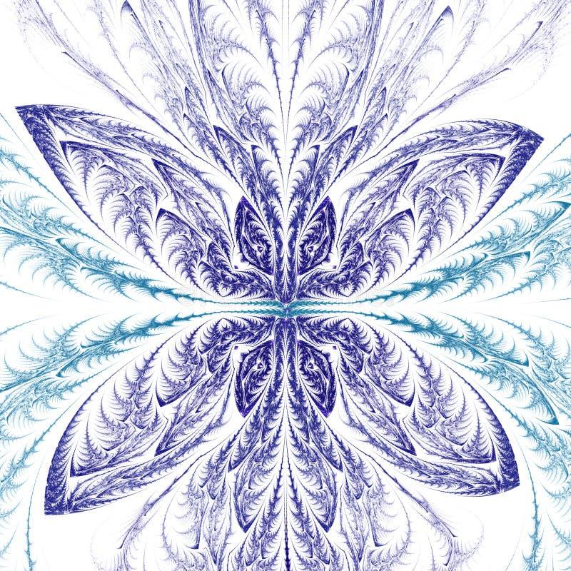 Abstrakt fractalfjäril vektor illustrationer