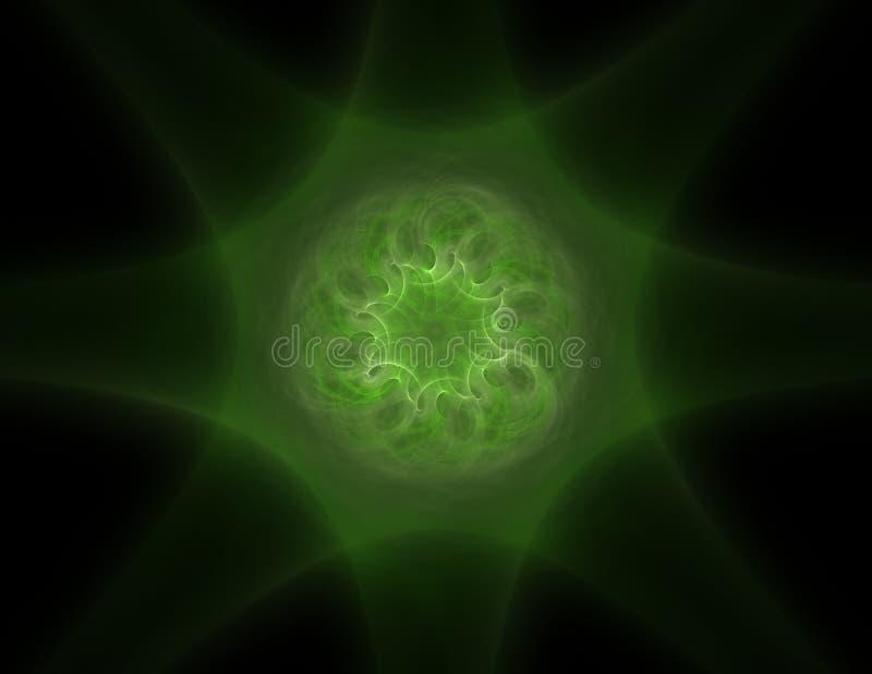 Abstrakt fractalhaveri, digitalt konstverk för idérik grafisk design royaltyfri illustrationer