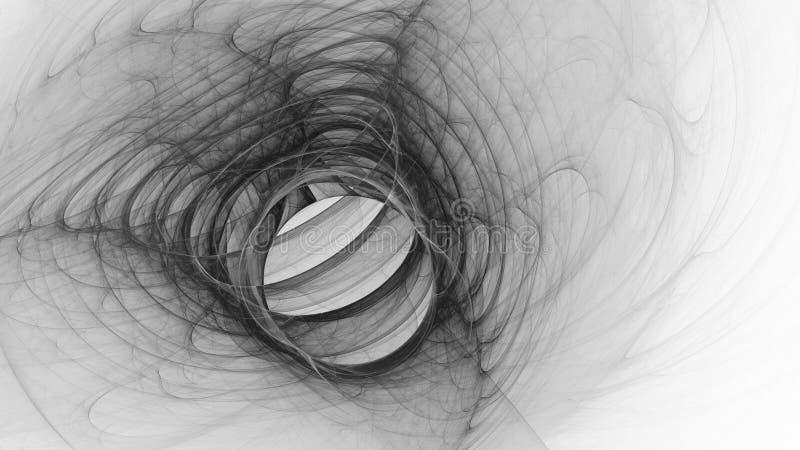 Abstrakt fractalillustration för idérik design arkivbild