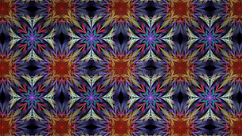 Abstrakt fractalillustration för idérik design royaltyfri fotografi
