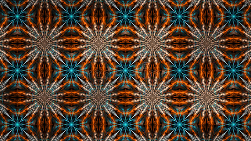 Abstrakt fractalillustration för idérik design royaltyfria bilder