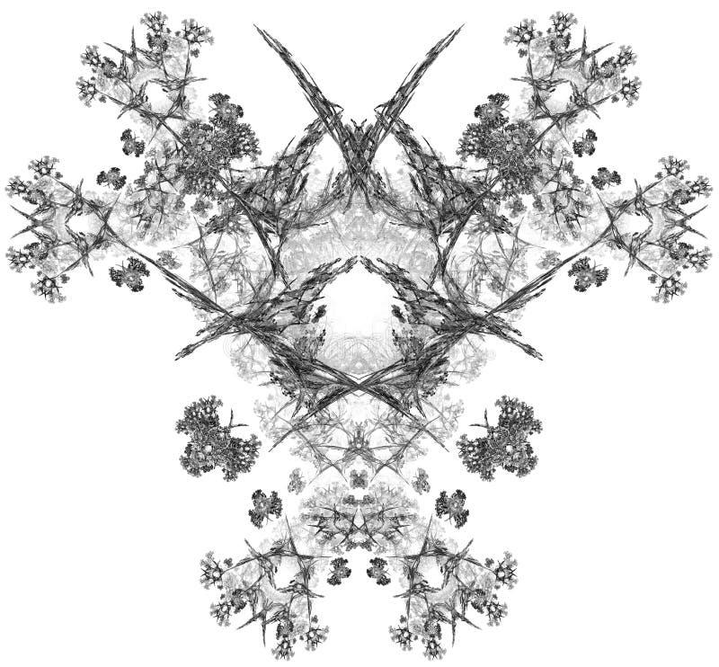 Abstrakt fractalillustration för monokrom royaltyfri illustrationer