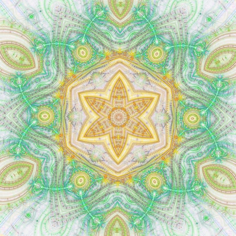 Abstrakt fractalstjärna stock illustrationer