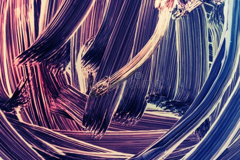 Abstrakt fragment för olje- målning med borsteslaglängder stock illustrationer